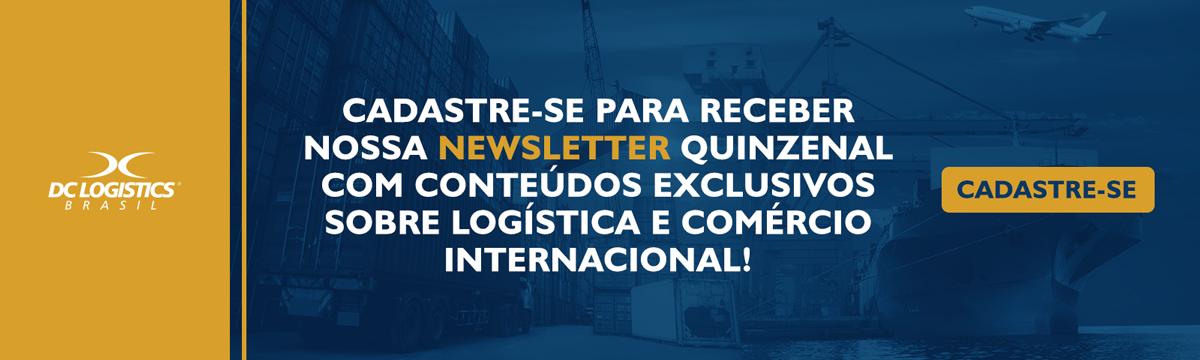 Cadastro newsletter DC Logistics Brasil