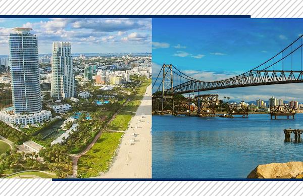 Confira alguns detalhes sobre a nova rota aérea entre Florianópolis e Miami!