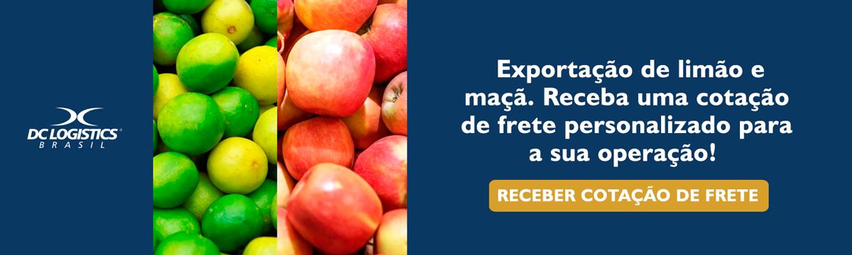 Exportação de limão e maçã